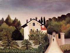 House on the Outskirts of Paris – Henri Rousseau