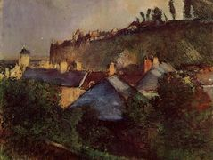Houses at the Foot of a Cliff (Saint-Valery-sur-Somme) – Edgar Degas