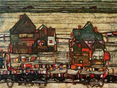 Houses with Laundry (Seeburg) – Egon Schiele