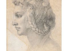 Ideal head of a woman – Michelangelo