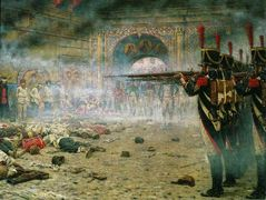 In Defeated Moscow ( Arsonists or Shooting in the Kremlin) – Vasily Vereshchagin