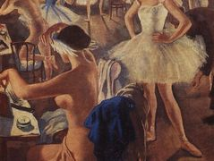 In the dressing room ballet (Swan Lake) – Zinaida Serebriakova
