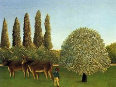 In the Fields  – Henri Rousseau