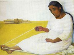 Indian Spinning — Diego Rivera