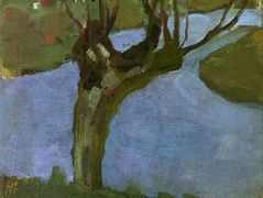 Irrigation Ditch with Mature Willow — Piet Mondrian