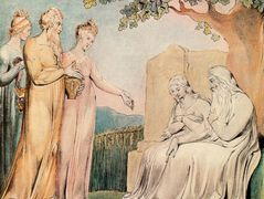 Job accepting Charity – William Blake