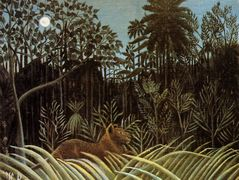 Jungle with Lion – Henri Rousseau