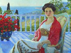 Lady on a Balcony, Koreiz – Nikolay Bogdanov-Belsky