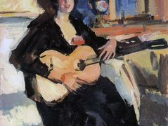 Lady with a Guitar – Konstantin Korovin