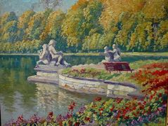 Lake and Gardens with Statuary Landscape – Nikolay Bogdanov-Belsky