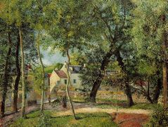 Landscape at Osny near watering – Camille Pissarro