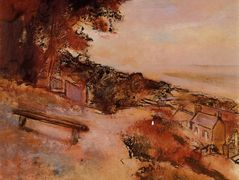 Landscape by the Sea – Edgar Degas