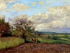 Landscape with a Cowherd – Camille Pissarro