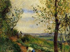 Landscape with a Man Digging – Camille Pissarro