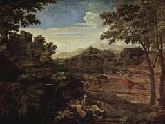 Landscape with a Man Killed by a Snake – Nicolas Poussin