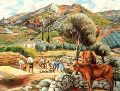 Landscape with artist's farmhouse in Fique – Rafael Zabaleta