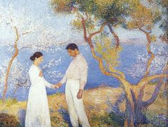 Landscape with Couple – Henri Martin