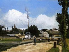 Landscape with Factory – Camille Pissarro
