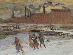 Landscape with factory buildings  – Konstantin Korovin