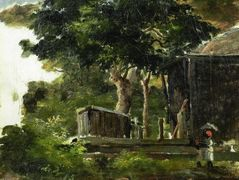 Landscape with House in the Woods in Saint Thomas, Antilles – Camille Pissarro