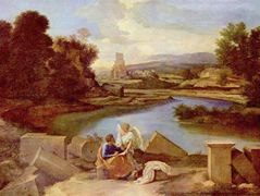 Landscape with St. Matthew and the Angel – Nicolas Poussin