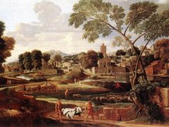 Landscape with the Funeral of Phocion – Nicolas Poussin