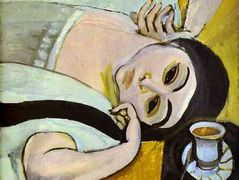 Laurette's Head with a Coffee Cup — Henri Matisse