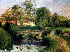Little Bridge on the Voisne, Osny – Camille Pissarro