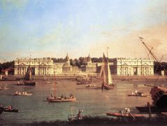 London: Greenwich Hospital from the North Bank of the Thames – Canaletto