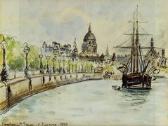 London, St. Paul's Cathedral – Camille Pissarro