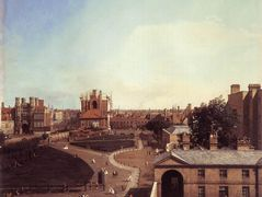 London: Whitehall and the Privy Garden from Richmond House – Canaletto