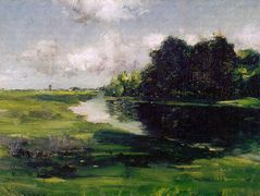 Long Island Landscape after a Shower of Rain — William Merritt Chase