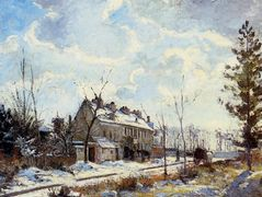 Louveciennes Road Snow Effect – Camille Pissarro