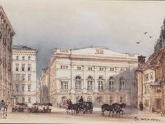 Lower Austrian country house in Vienna Viewed from Minoritenplatz – Rudolf von Alt