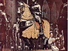 Lunch Break with a Knight – Norman Rockwell