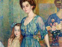 Madame Von Bodenhausen  with her daughter Luli – Theo van Rysselberghe