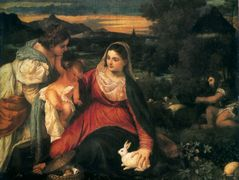 Madonna and Child with St. Catherine and a Rabbit — Titian