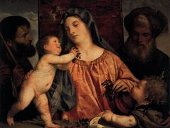 Madonna of the Cherries — Titian
