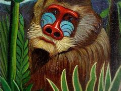 Mandrill in the Jungle – Henri Rousseau