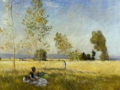 Meadow at Bezons — Claude Monet