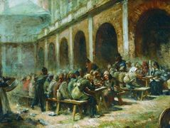 Meal of pilgrims in the Trinity Lavra of St. Sergius – Konstantin Makovsky