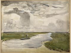 Meandering Landscape with River — Piet Mondrian