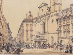 Michaelerplatz and carbon market in Vienna – Rudolf von Alt