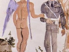 Military Policeman arresting the spirit — Yiannis Tsaroychis