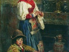 Models waiting for Artist (basking Italians) – Konstantin Makovsky