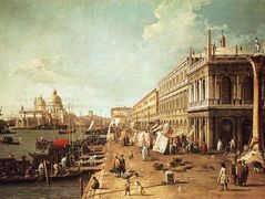 Molo with the Library (Molo Looking Towards the Zecca) – Canaletto