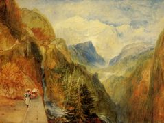 Mont Blanc from Fort Roch, Val D'Aosta — William Turner