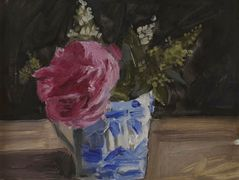Montrouge rose in an English cup  — Yiannis Tsaroychis