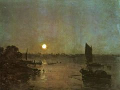 Moonlight, A Study at Millbank — William Turner