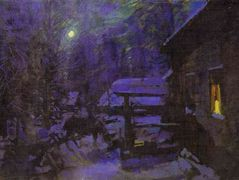 Moonlit Night. Winter – Konstantin Korovin